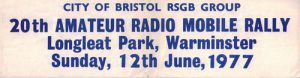 Longleat Rally Poster 1977